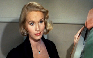 Eva Marie Saint as Eve KIindall in Hitchcock's North by Northwest